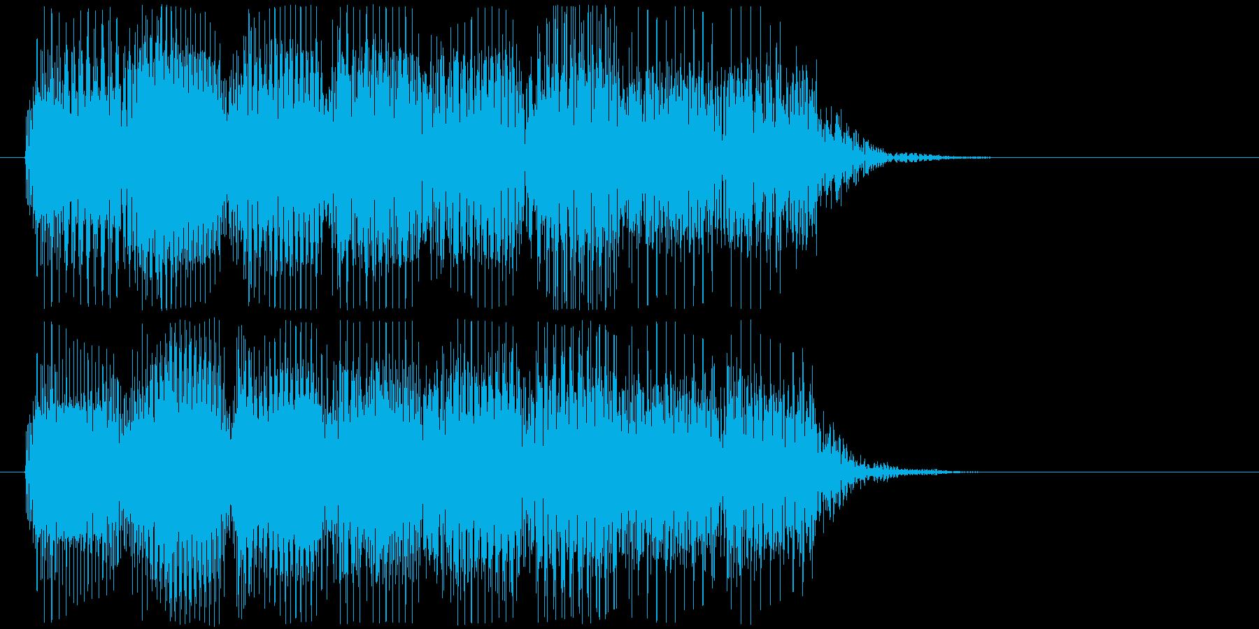 軽快なレトロなゲームオーバーBGMの再生済みの波形