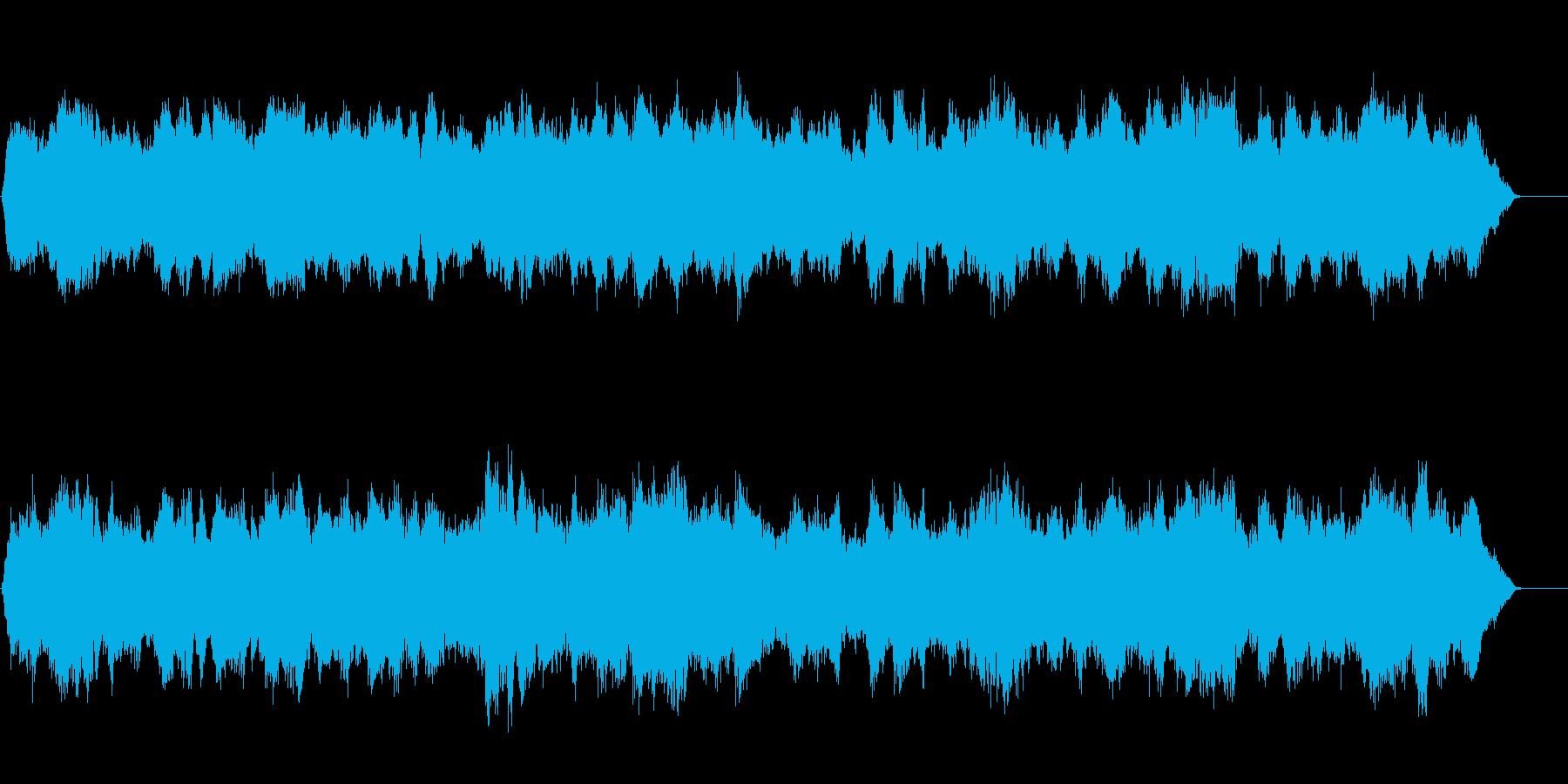 展開のあるオーケストラBGMの再生済みの波形