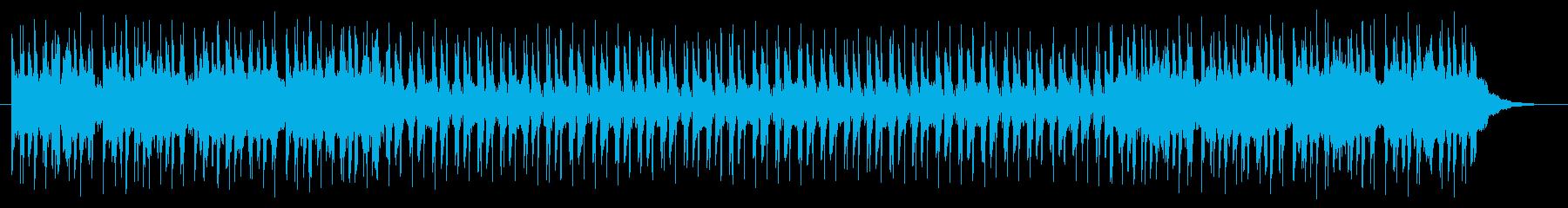 ポップで軽快な雰囲気の曲の再生済みの波形