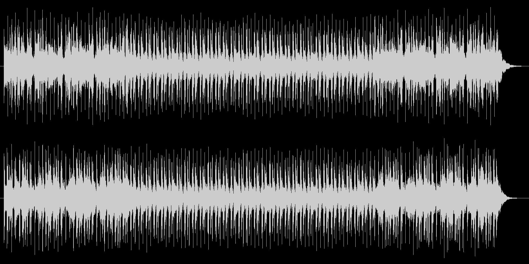 ポップで軽快な雰囲気の曲の未再生の波形