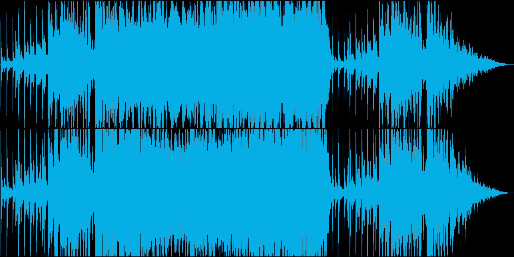 桜舞い散る和風ピアノBGMの再生済みの波形