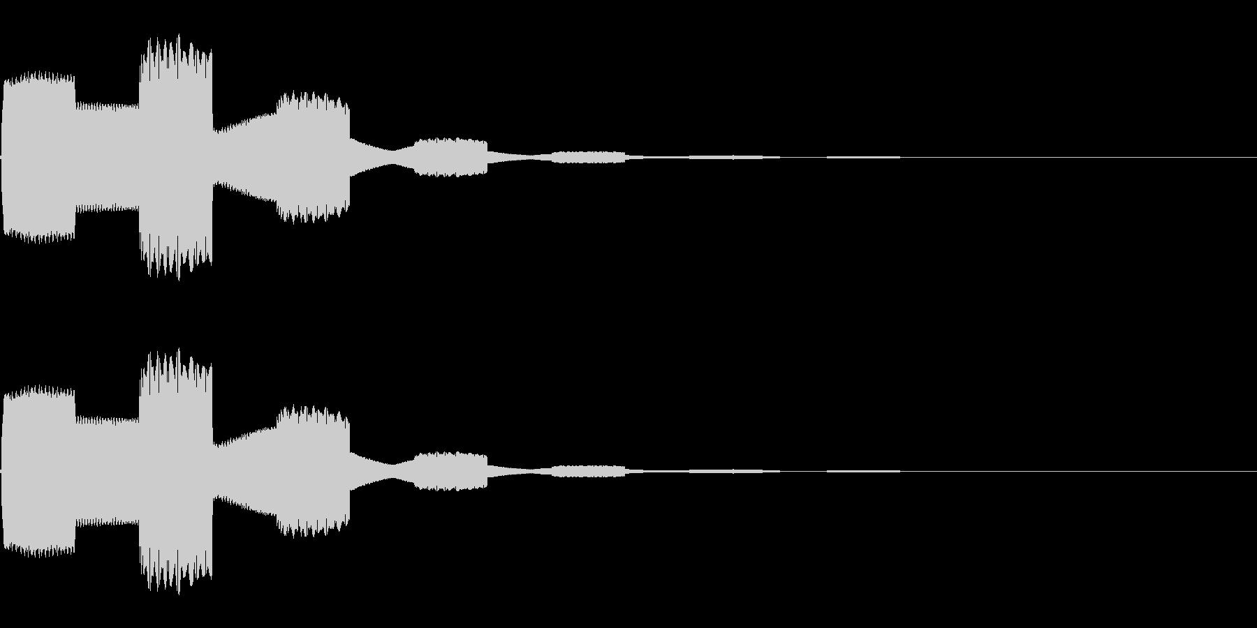 ピコピコ…(シンプル/決定音/エコー)の未再生の波形
