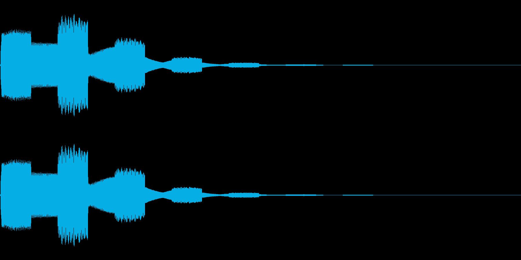 ピコピコ…(シンプル/決定音/エコー)の再生済みの波形