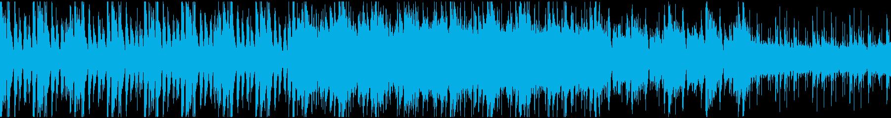 民族調のワールドマップ・メニュー画面曲の再生済みの波形