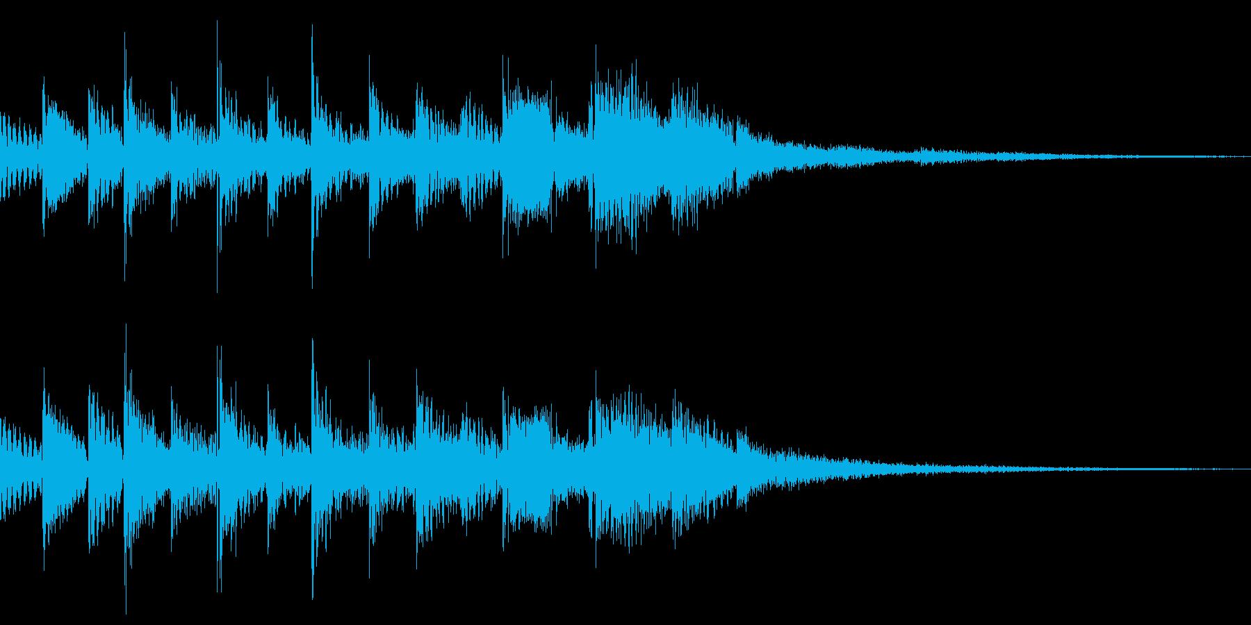 ピン!と来た時の音ですの再生済みの波形