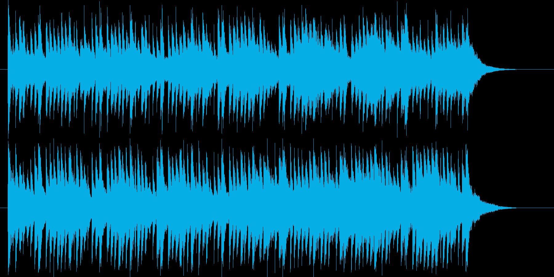 和風で悠長なシンセと鈴のジングルの再生済みの波形