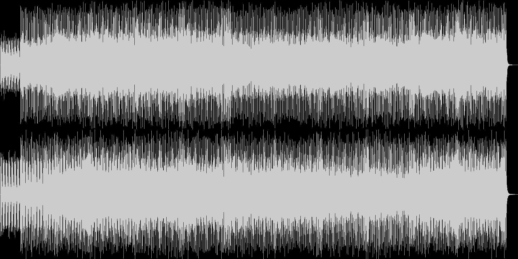 緊迫感のあるストリングスロックの未再生の波形