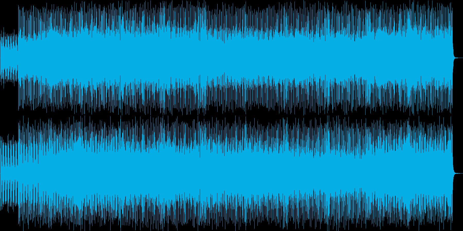 緊迫感のあるストリングスロックの再生済みの波形