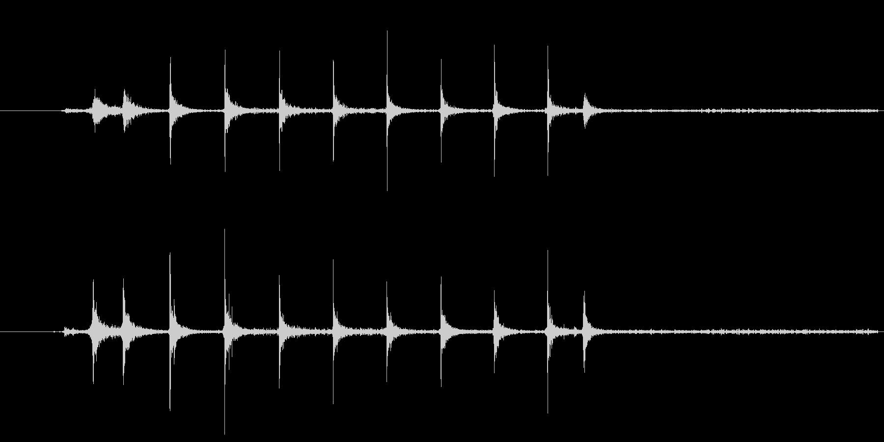 ガスコンロの着火音の未再生の波形