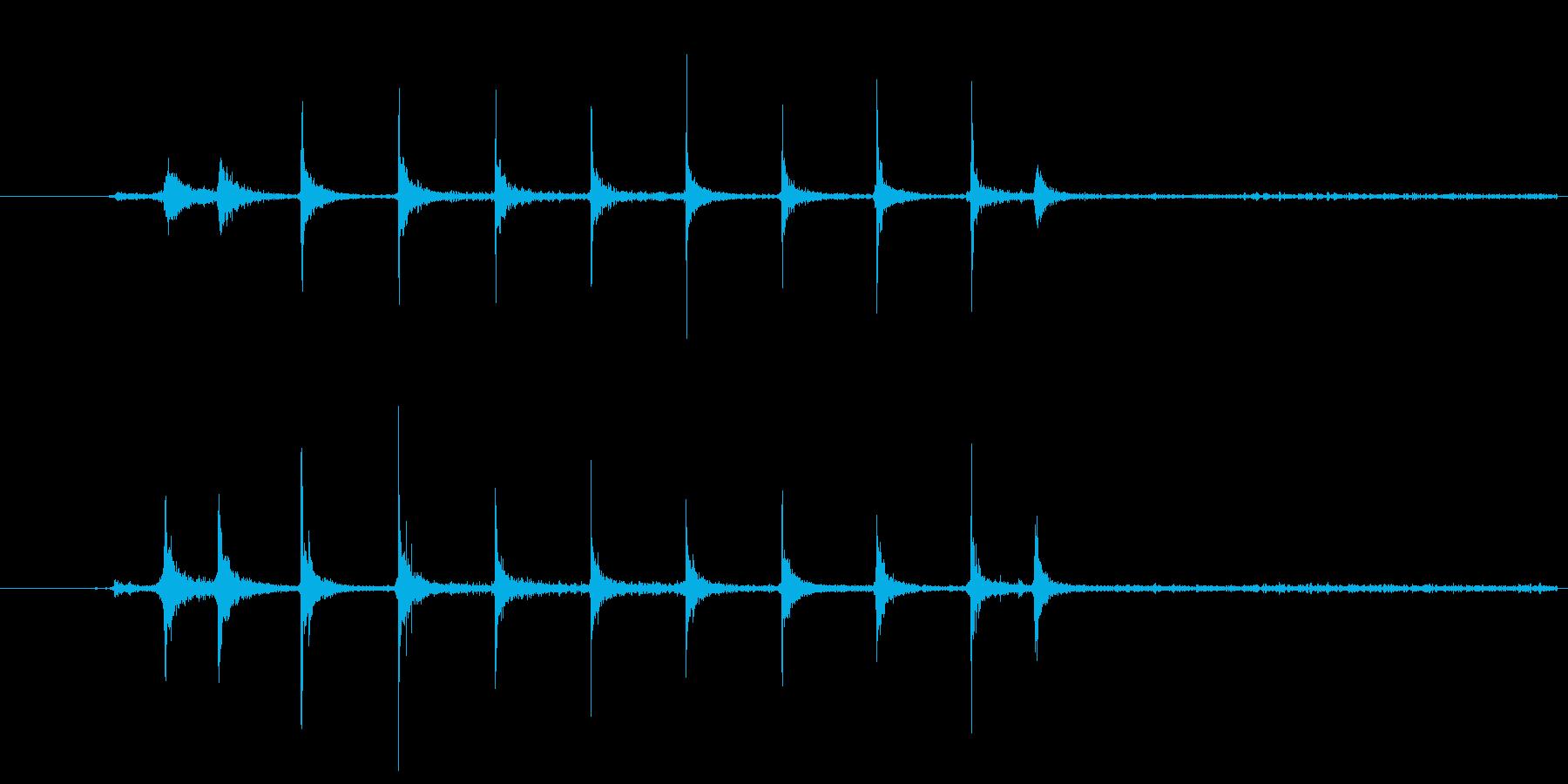 ガスコンロの着火音の再生済みの波形