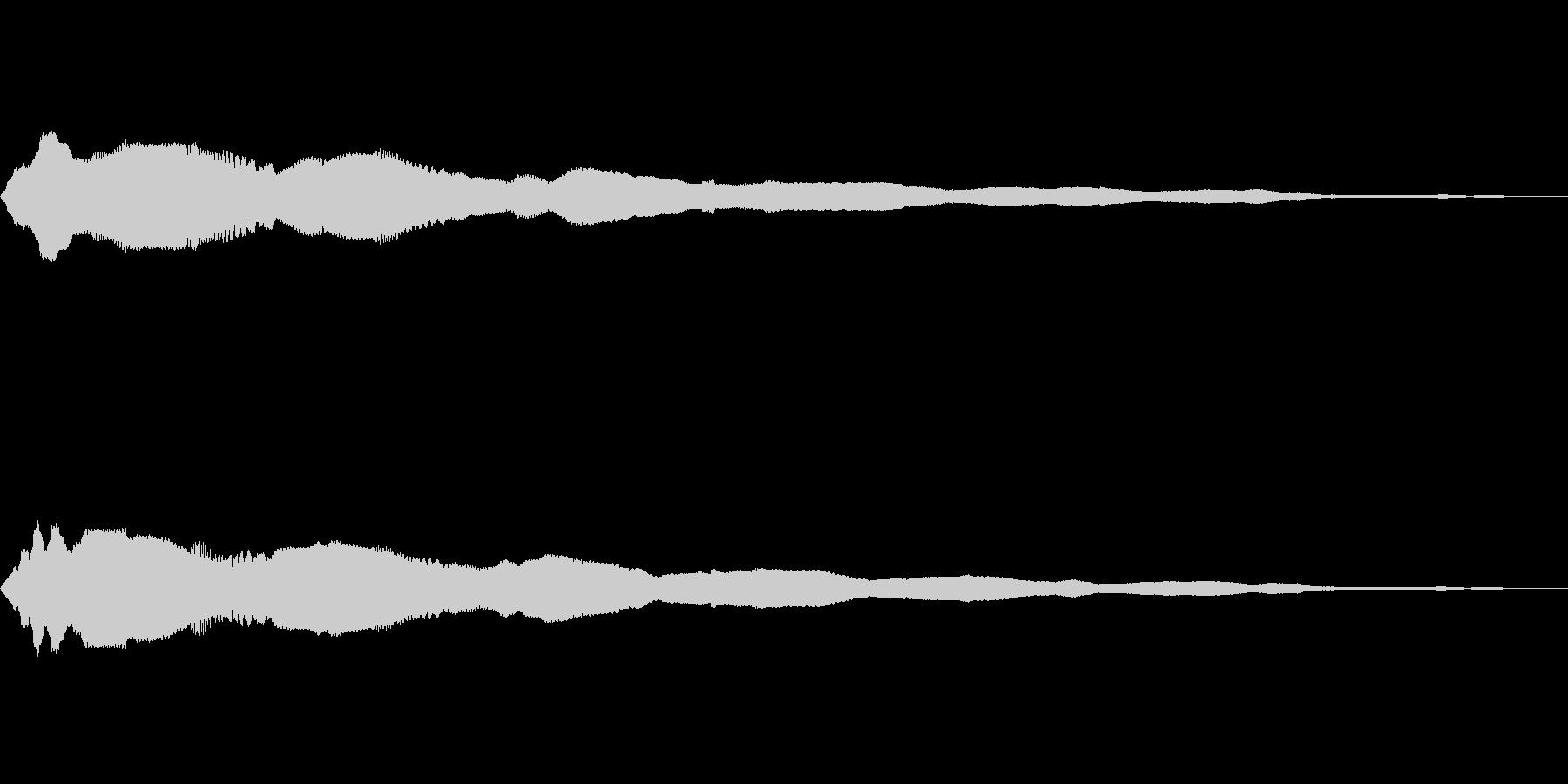 キラーン(8bit風)の未再生の波形