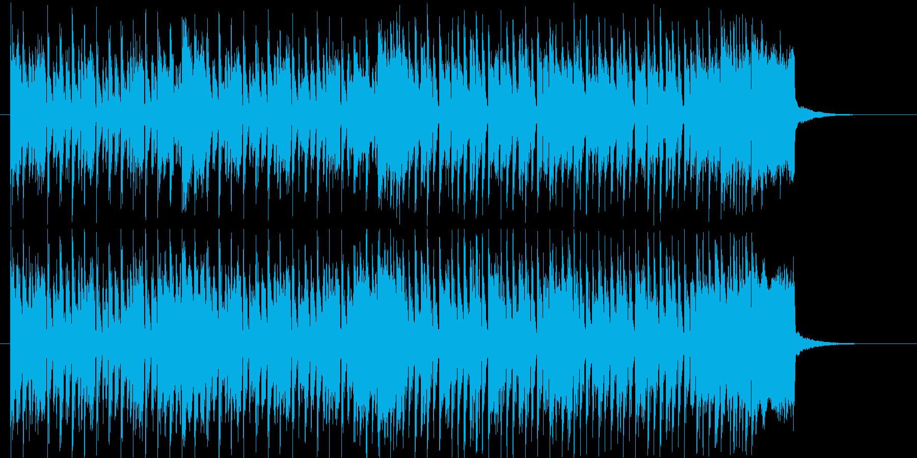 躍動感あるリズミカルなテクノジングルの再生済みの波形