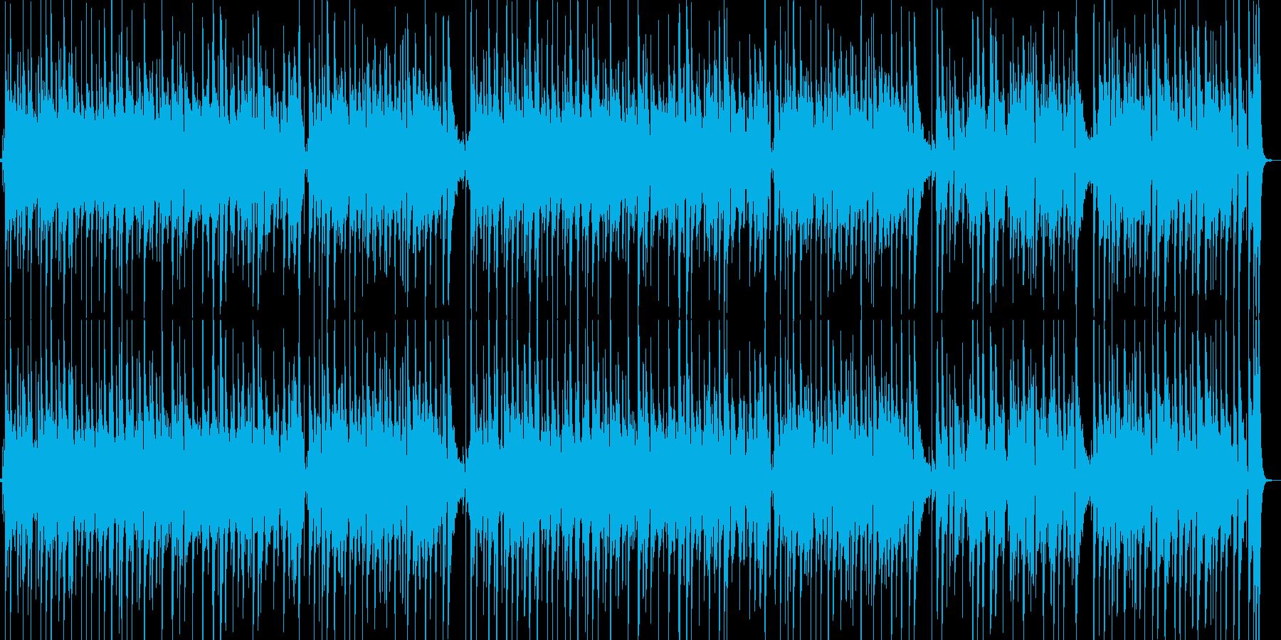 楽しくて幸せな感じのアコギインストの再生済みの波形