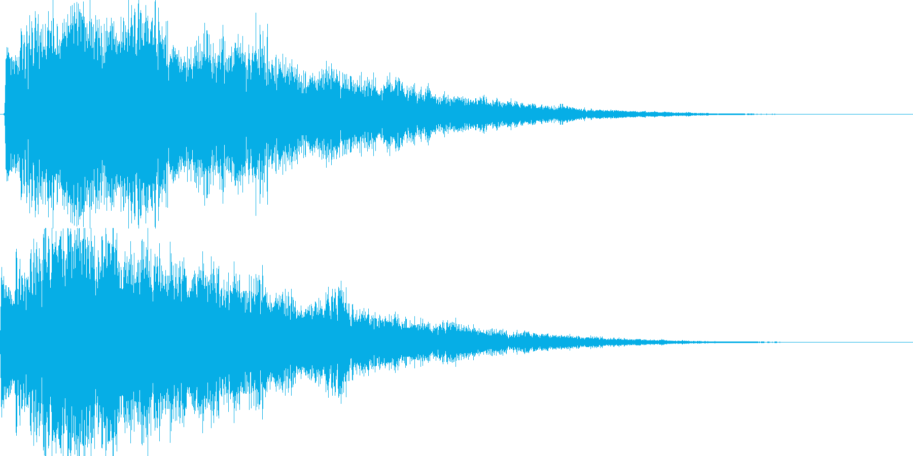 決定、ひらめき等の効果音です ver4の再生済みの波形