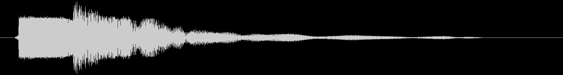 カキーン 金属音 衝撃音 打撃音の未再生の波形