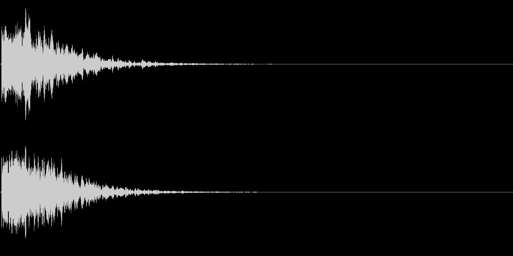ゲームスタート、決定、ボタン音-011の未再生の波形