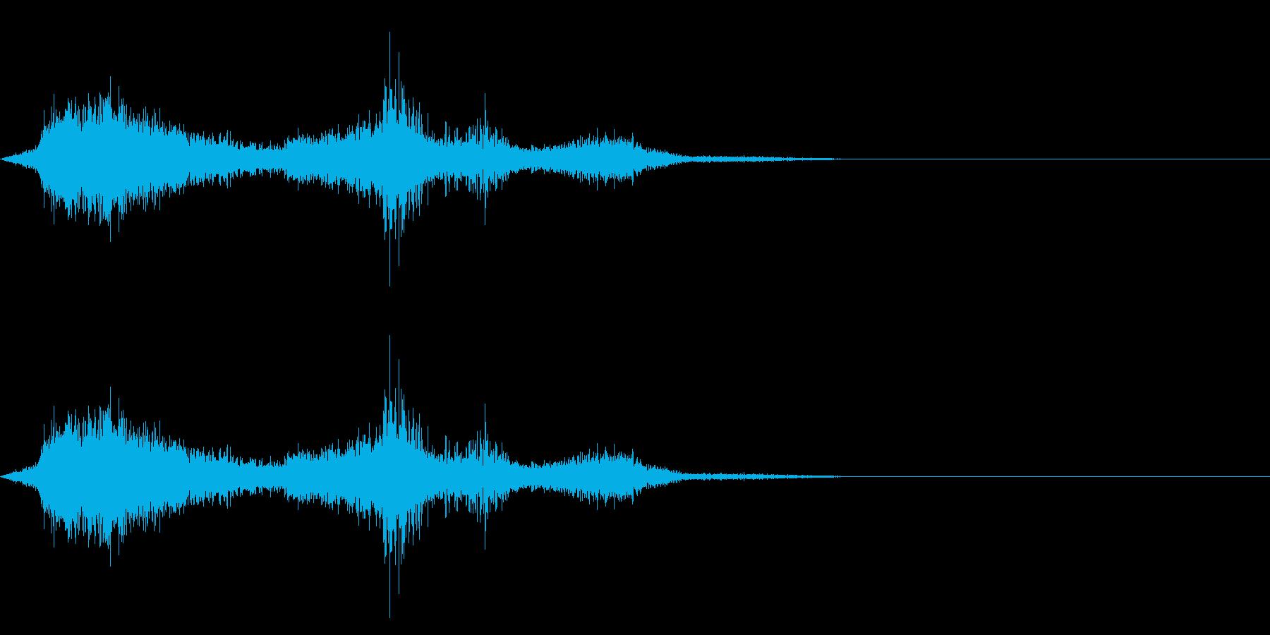 シルク・ナイロン・はためくの再生済みの波形