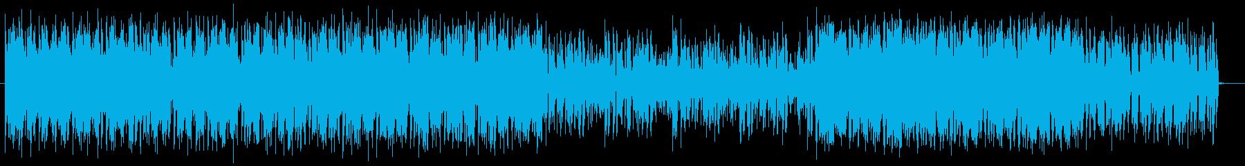 煌びやかで神秘的なテクノポップの再生済みの波形