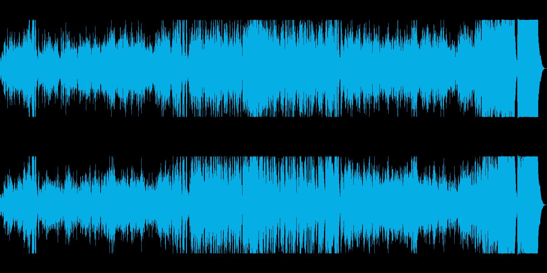 オーケストラの壮大な演奏の楽曲の再生済みの波形
