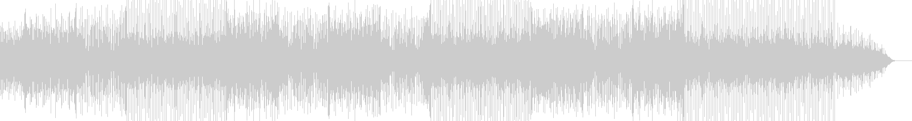 怪しげなリフが印象的で駆け抜けるような曲の未再生の波形