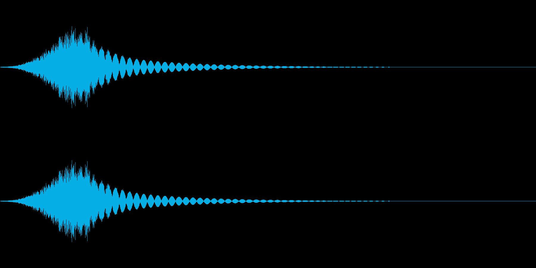 砂利の音(細かめ)の再生済みの波形