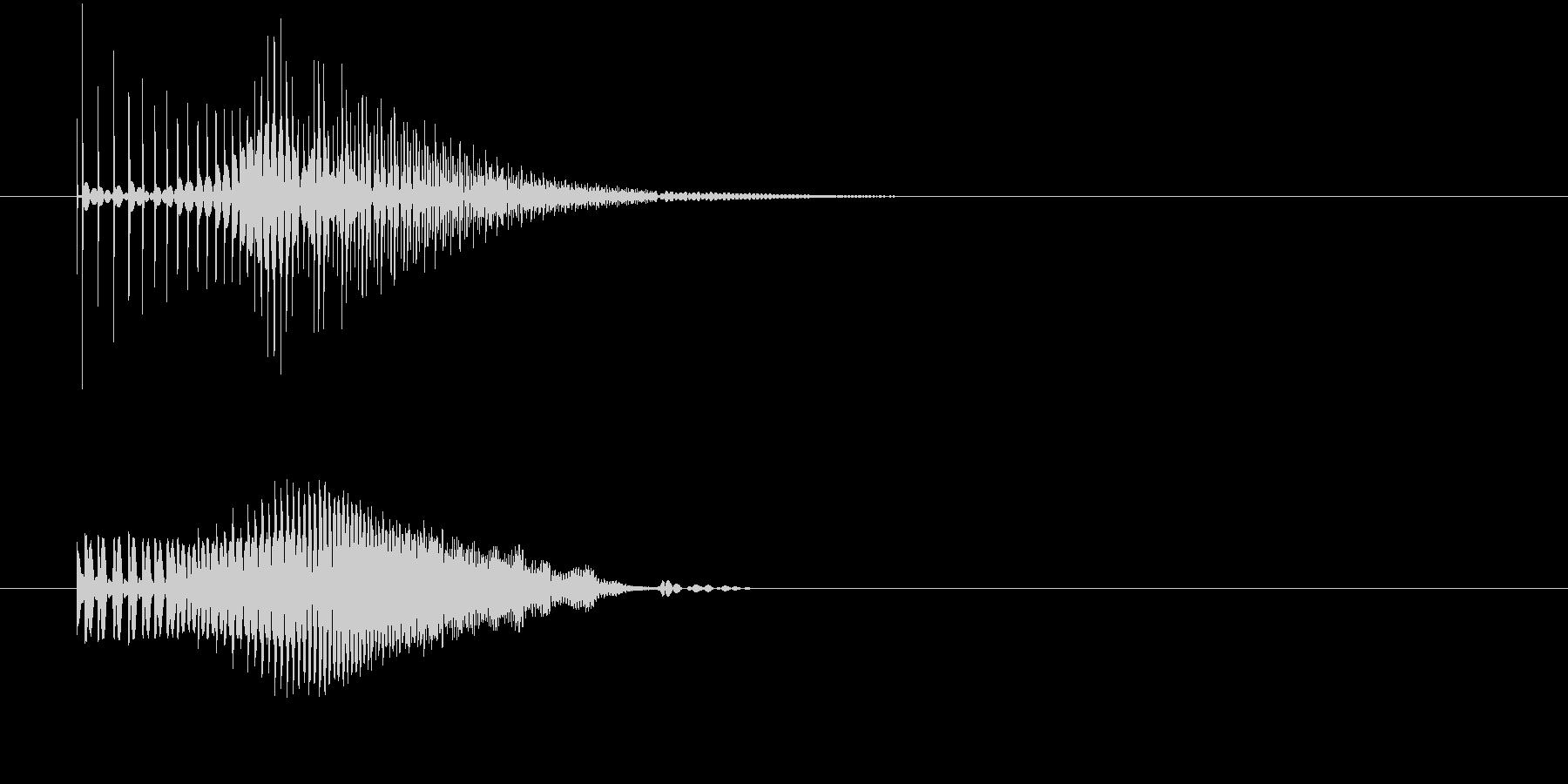 グイーン↑(何かが持ち上がる)の未再生の波形
