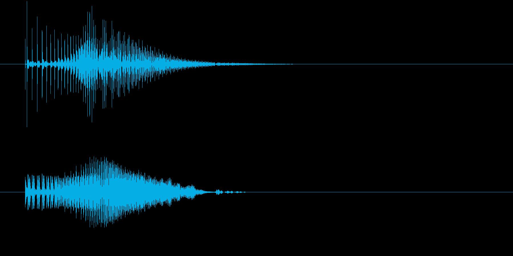グイーン↑(何かが持ち上がる)の再生済みの波形