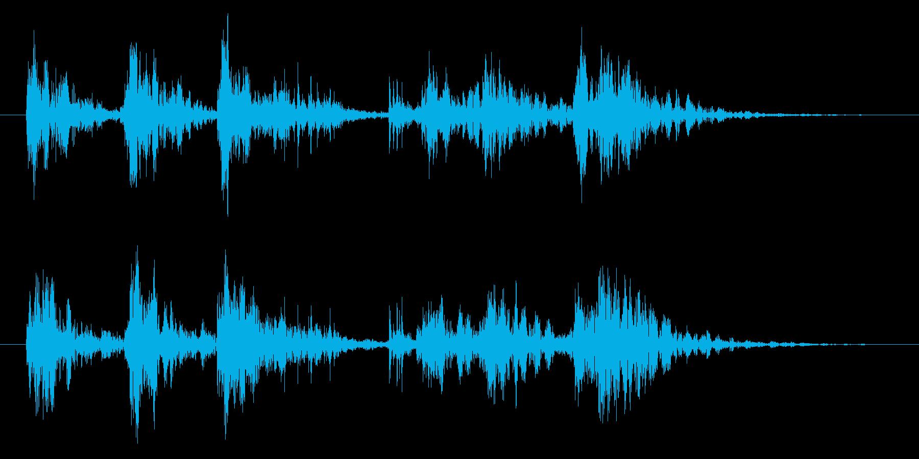 ドンドンドン カラカッカ ドドンドドンの再生済みの波形