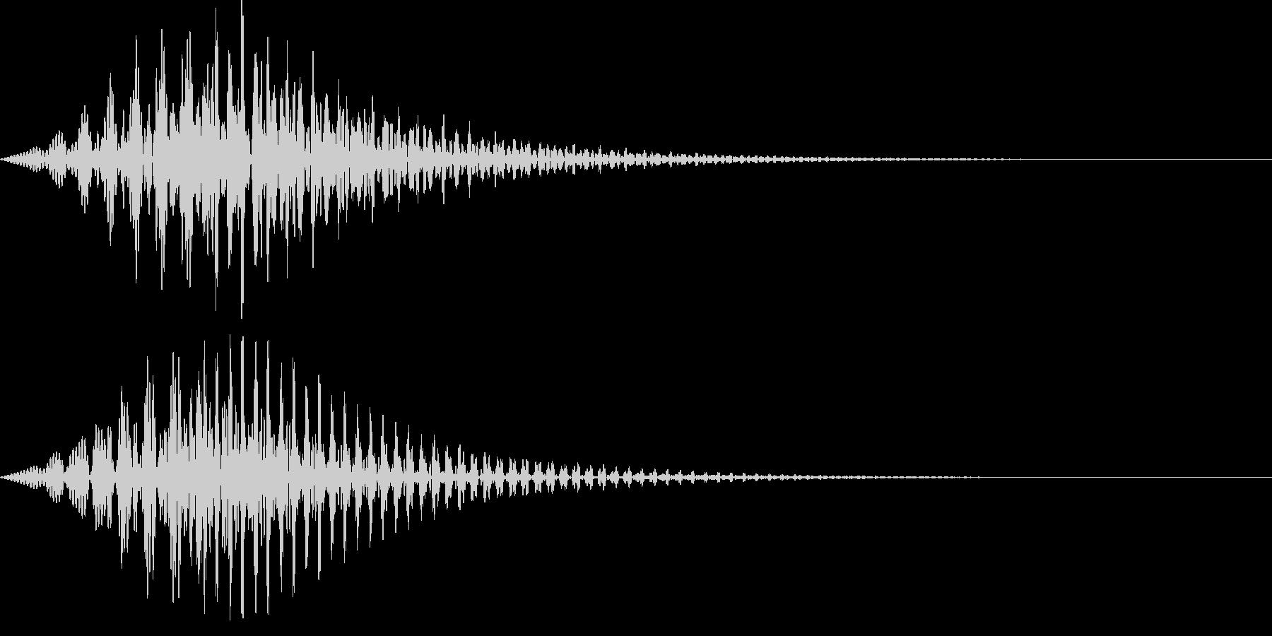 ボタン・操作音6の未再生の波形