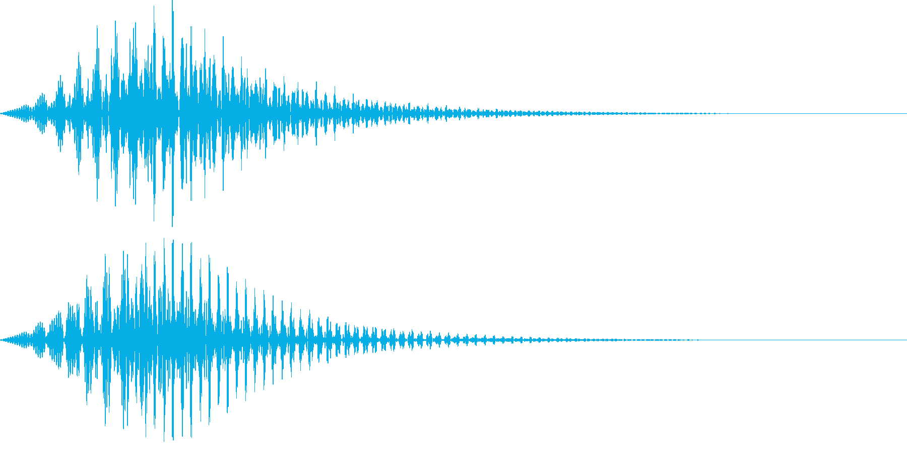 ボタン・操作音6の再生済みの波形