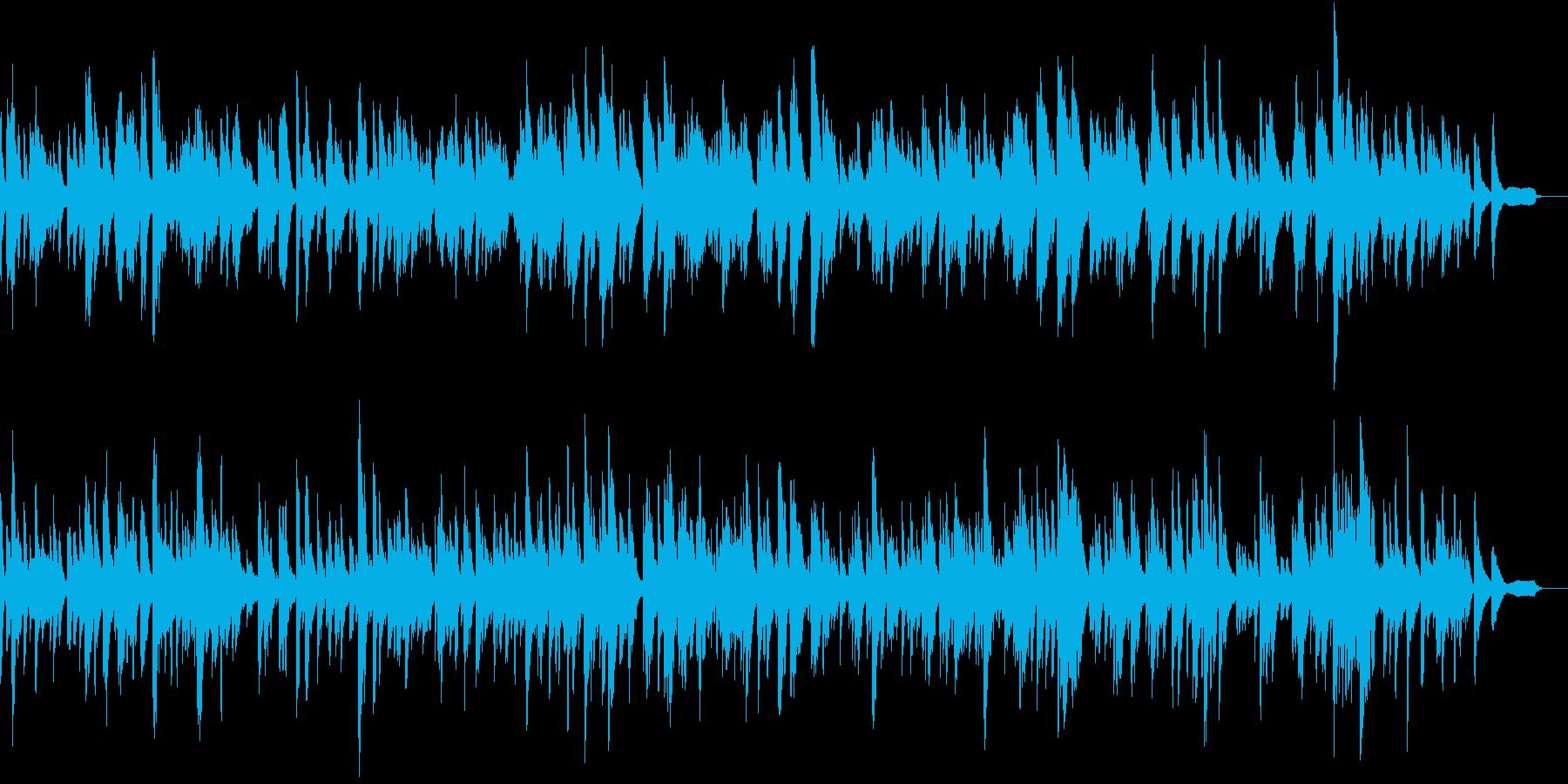 しっとりとしたピアノ旋律の再生済みの波形