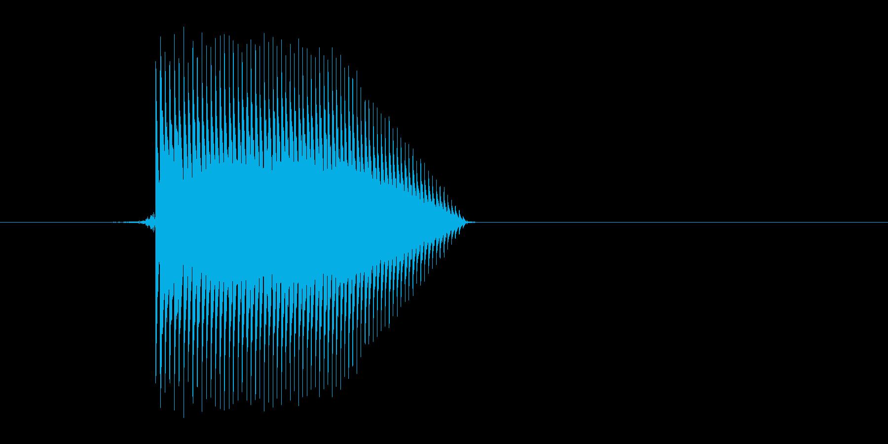 ゲーム(ファミコン風)ジャンプ音_008の再生済みの波形