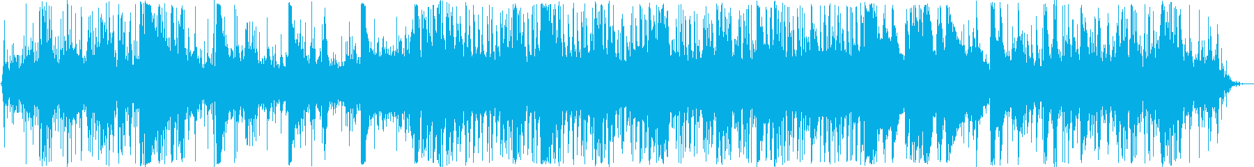 水とピアノのほのぼのBGMの再生済みの波形