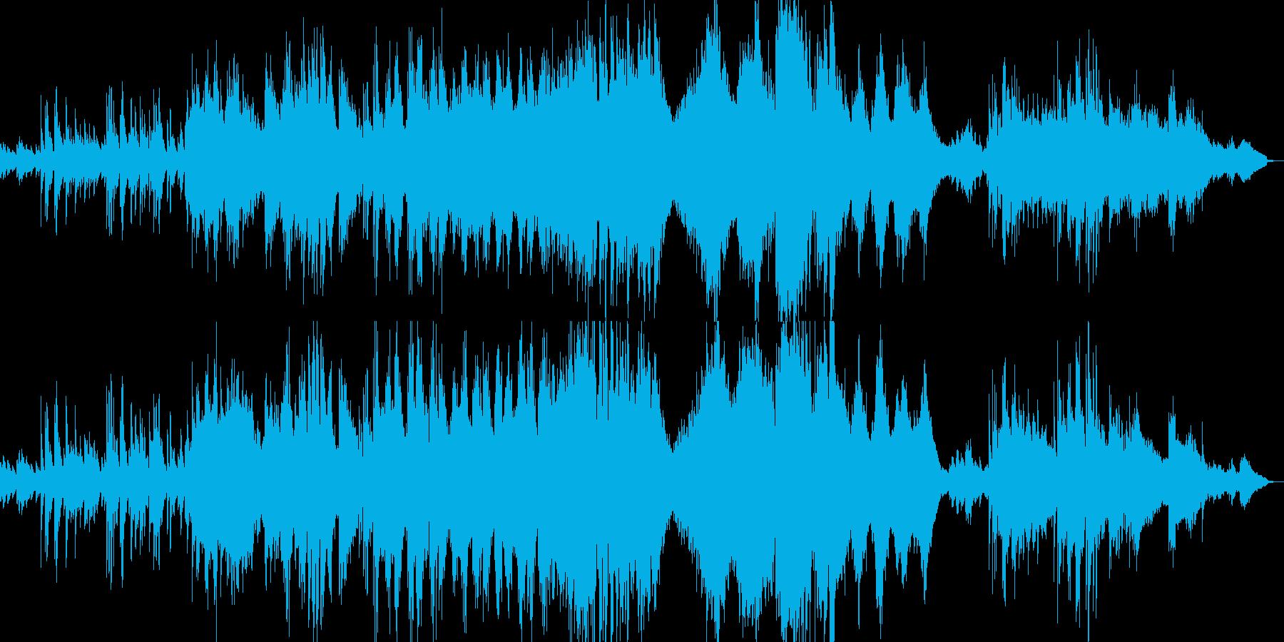 ロシア風のクラシカルなピアノ曲の再生済みの波形