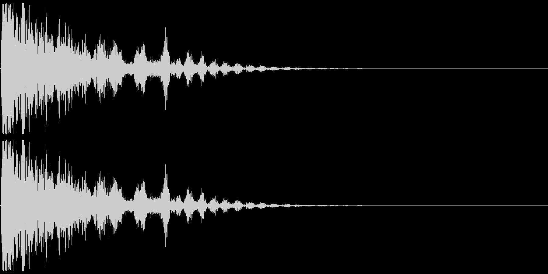 光弾、氷などをイメージしたエフェクト音の未再生の波形