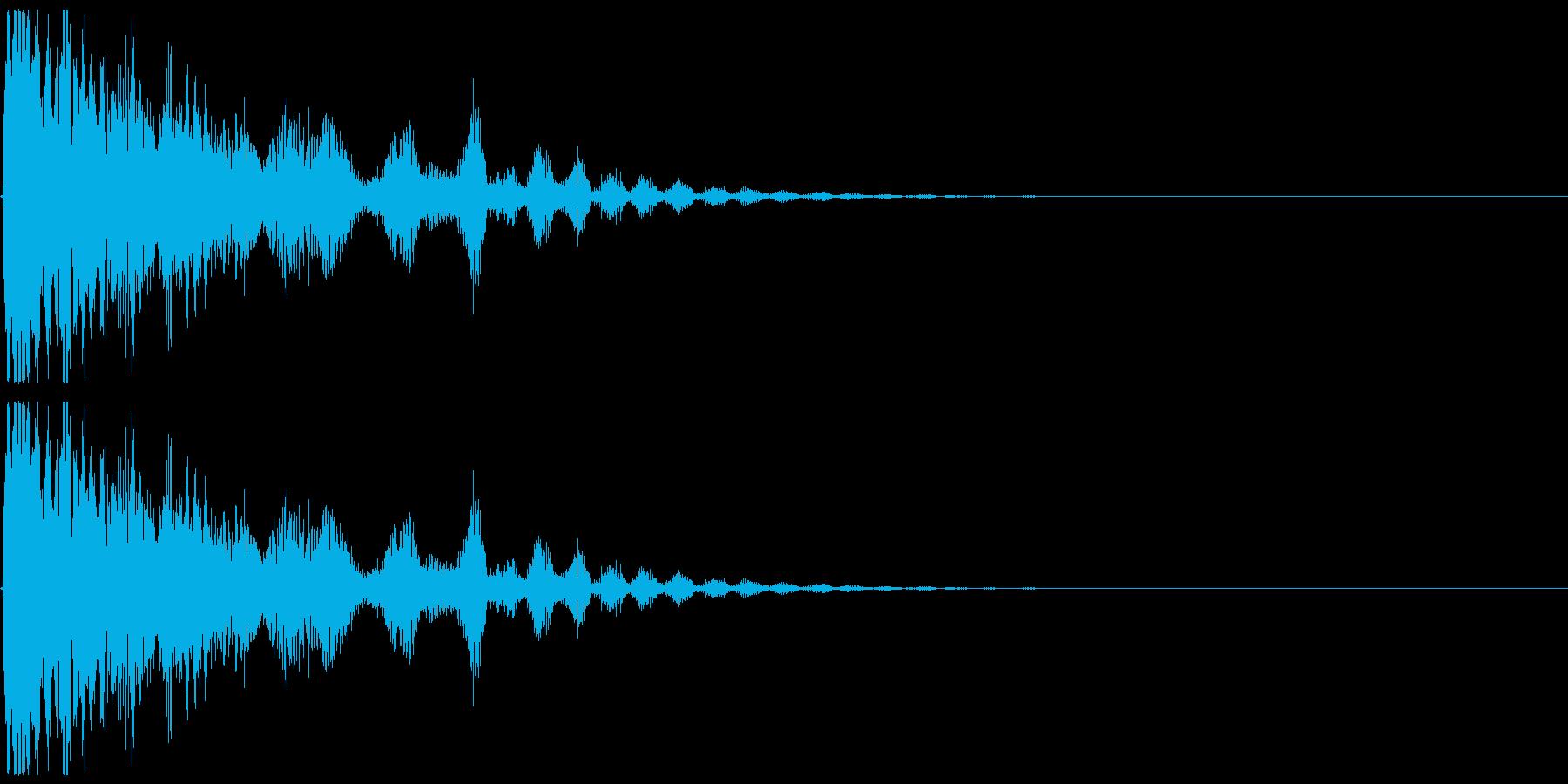 光弾、氷などをイメージしたエフェクト音の再生済みの波形