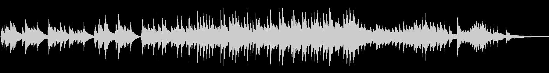 ピアノバラード感動シーン、心温まる場面への未再生の波形