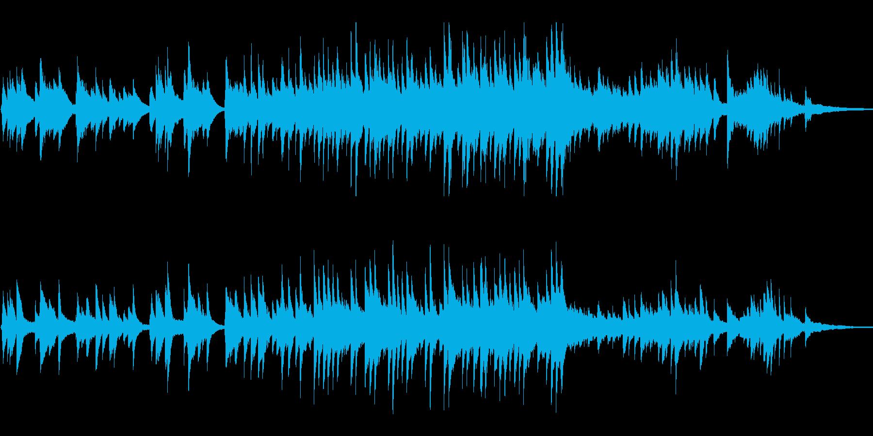 ピアノバラード感動シーン、心温まる場面への再生済みの波形