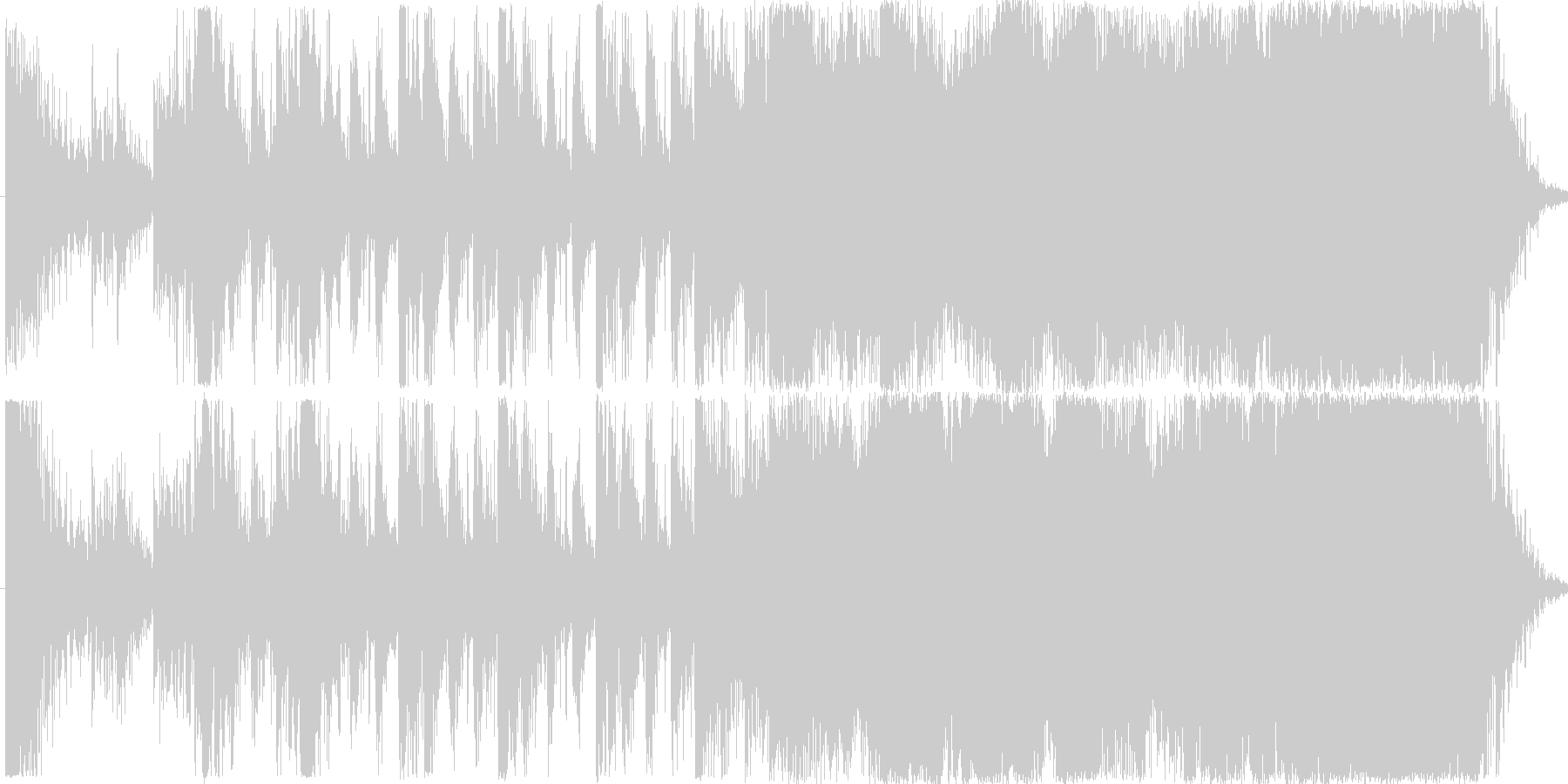 オーケストラアレンジオープニング曲の未再生の波形