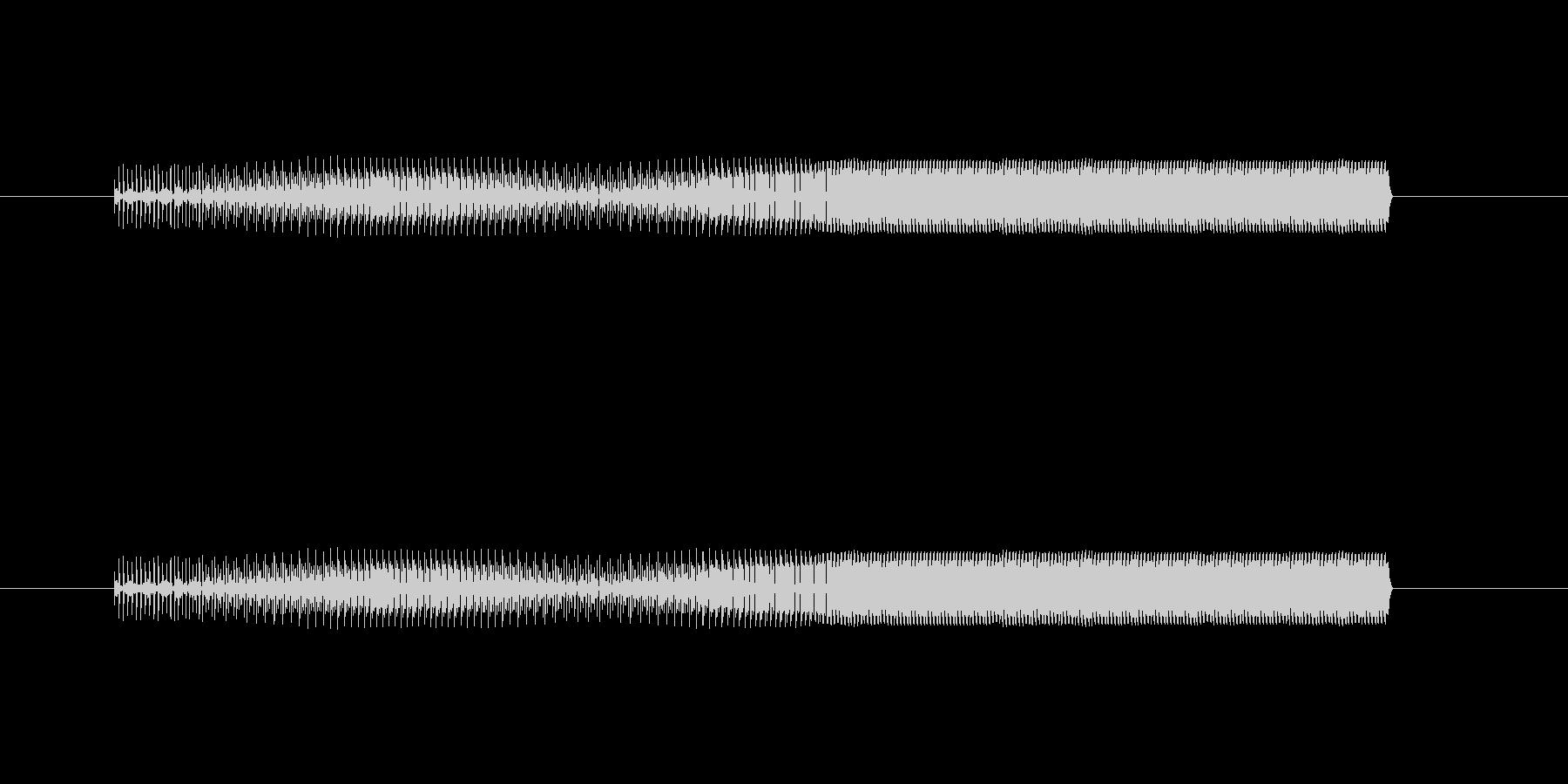 敵を倒したときの音の未再生の波形