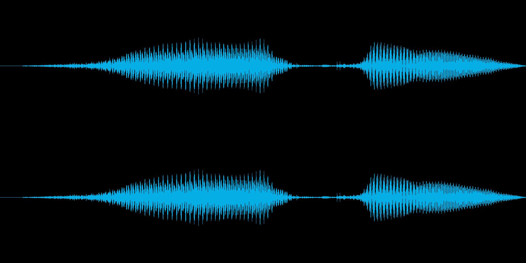 (女性)ドイツ語数字7(七) ズィーベンの再生済みの波形