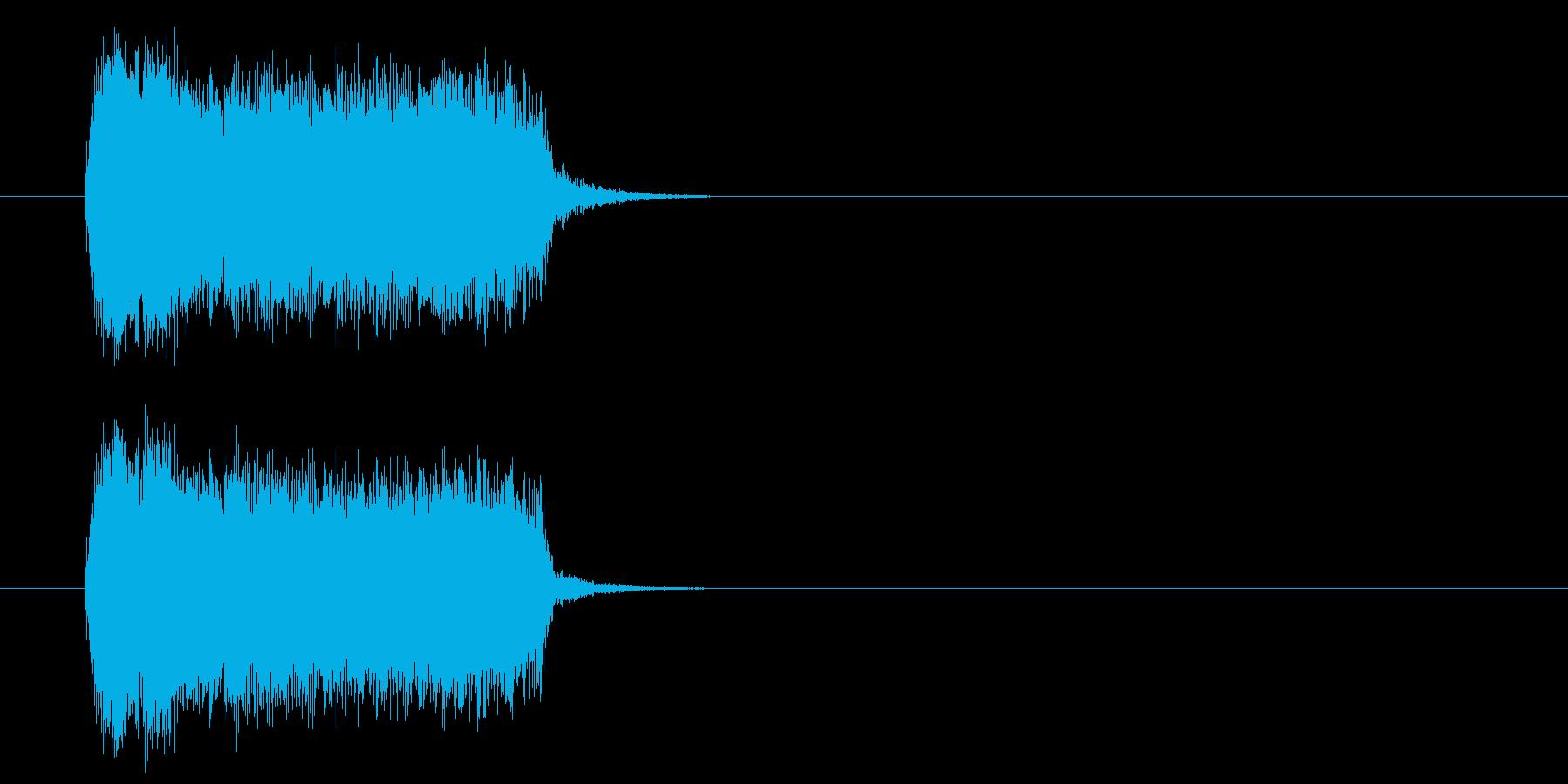 ロック系ジングルの再生済みの波形