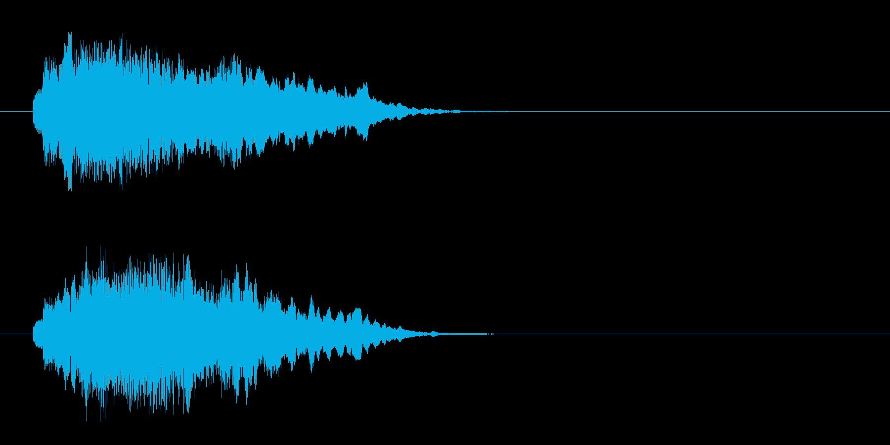 場面転換ジングルの再生済みの波形