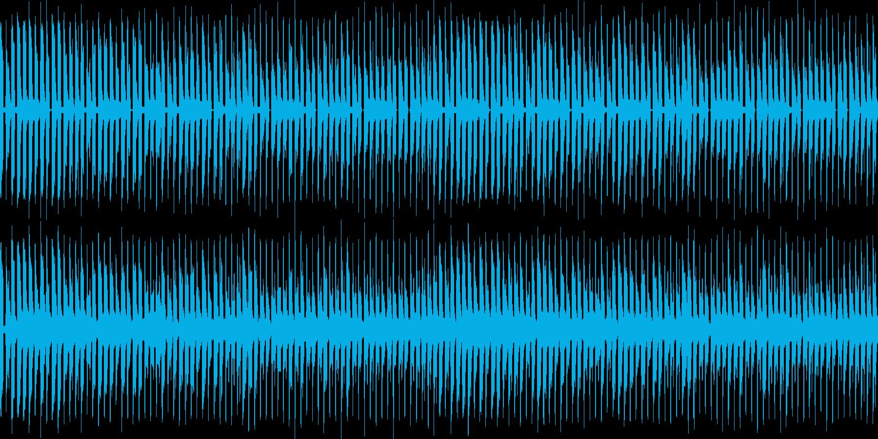 シューティング系やパズル系BGMにピッ…の再生済みの波形