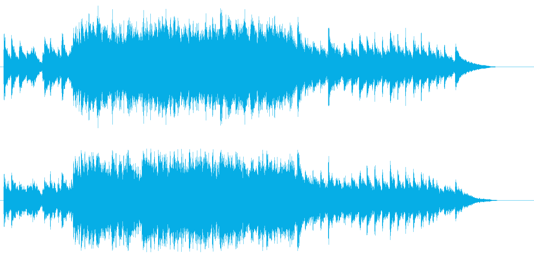 晴れ渡るウェディング風オープニングテーマの再生済みの波形