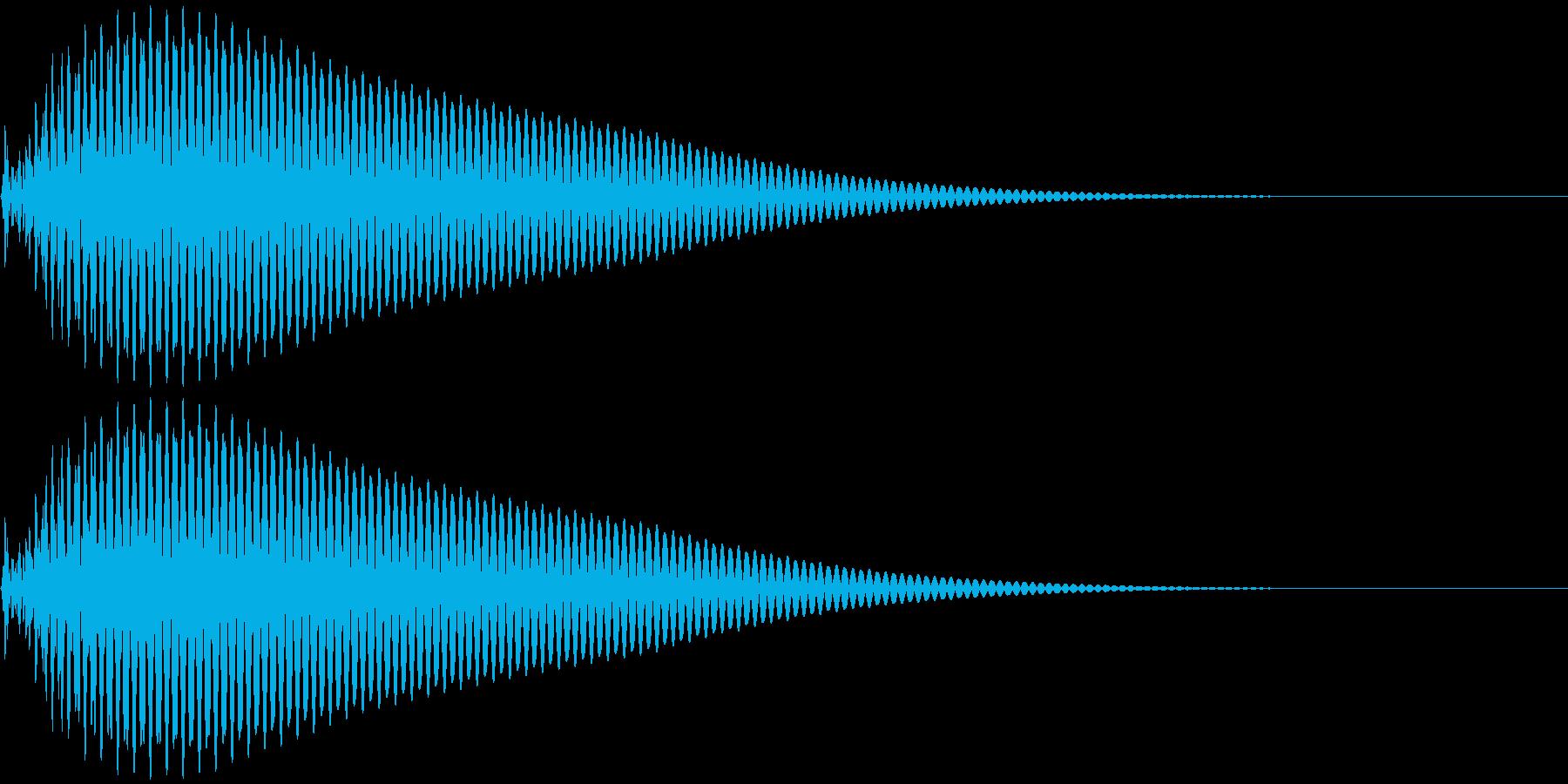 タン 低 (ボタン、スタート音)の再生済みの波形