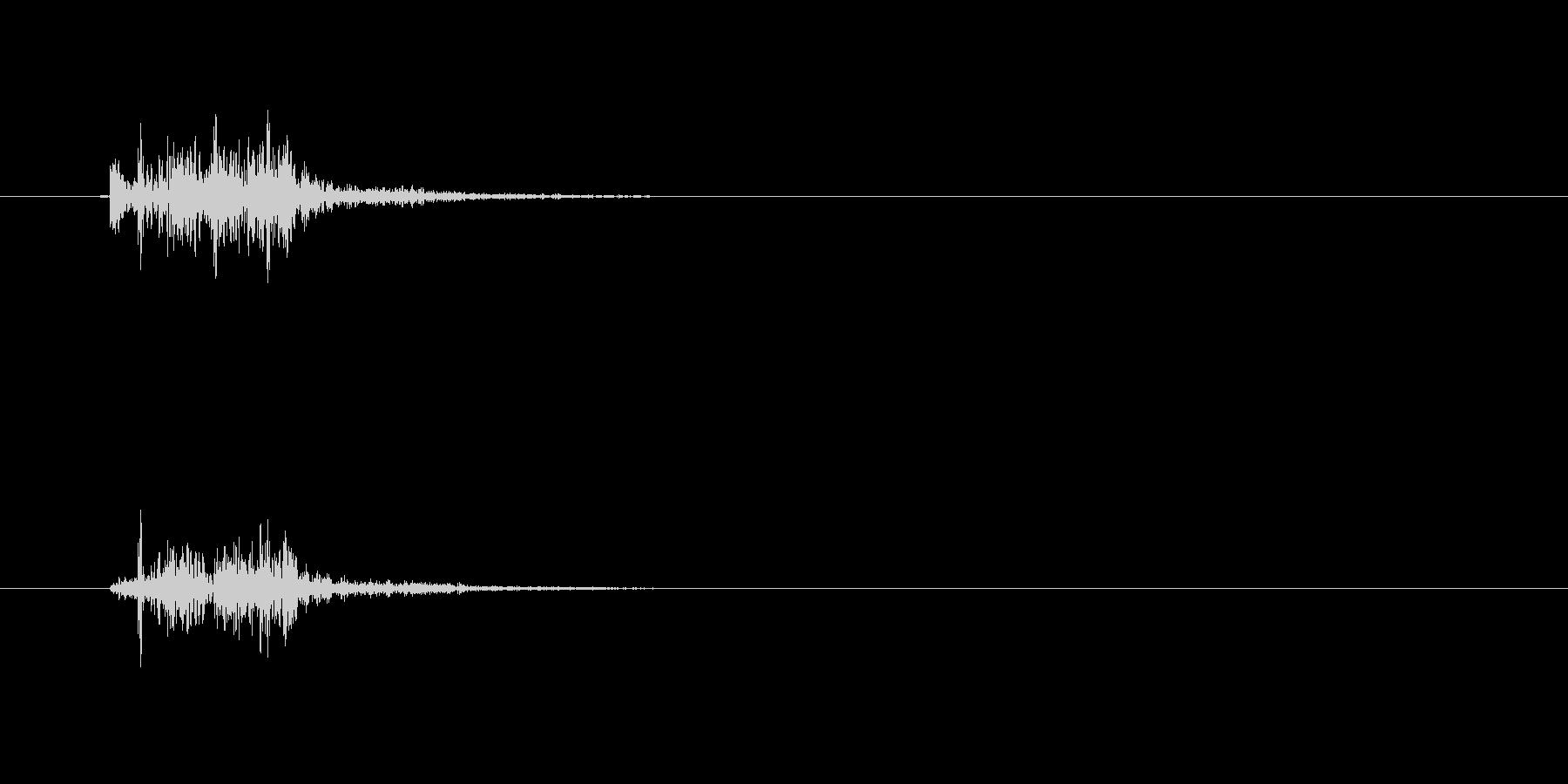 バスケットボールのシュート音 swishの未再生の波形