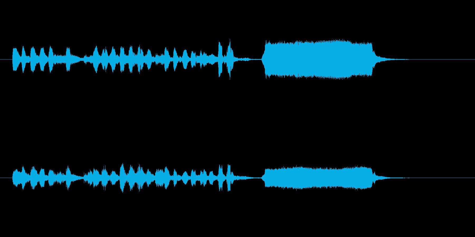 笛の音を使った癒し系ジングルですの再生済みの波形
