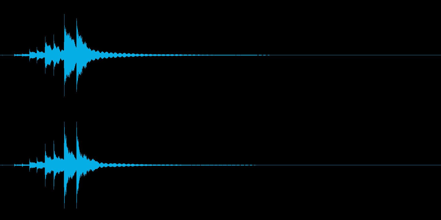 コンコンコーン和物打楽器きんの連続音Fxの再生済みの波形