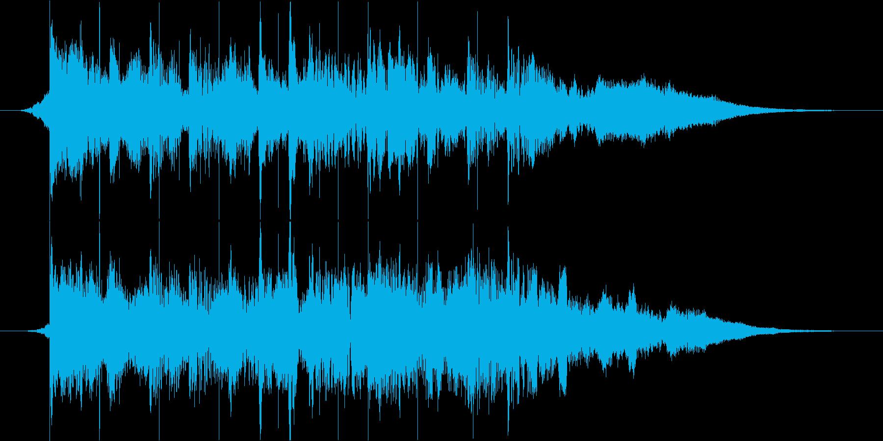 未来的で上品な映像オープニングロゴの再生済みの波形